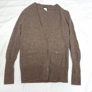 J. Crew button up cardigan with sequin pockets
